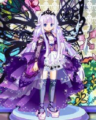 暗紫哥特的蕾丝袖