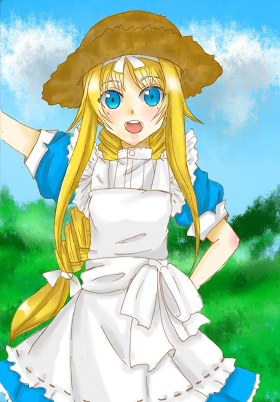 夏樱奥比岛板绘秀作品--爱丽丝同人