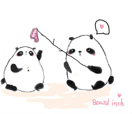 教你画可爱小熊猫
