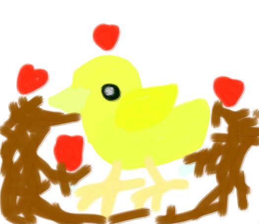 手捧小鸡简笔画图片