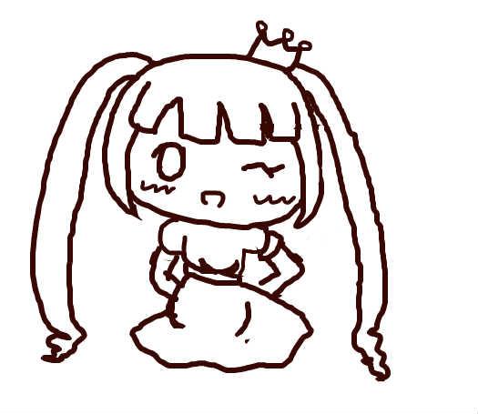 小公主^^_百田涂鸦板_百田网图片
