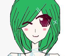 绿头发的女孩