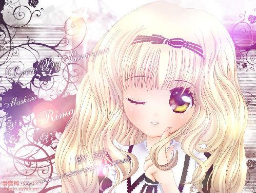 银色头发的少女图