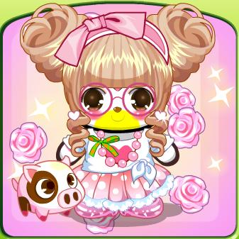 巨蟹座娃娃头,粉色蝴蝶结发箍和粉框眼镜的完美搭配,有木有狠可耐捏