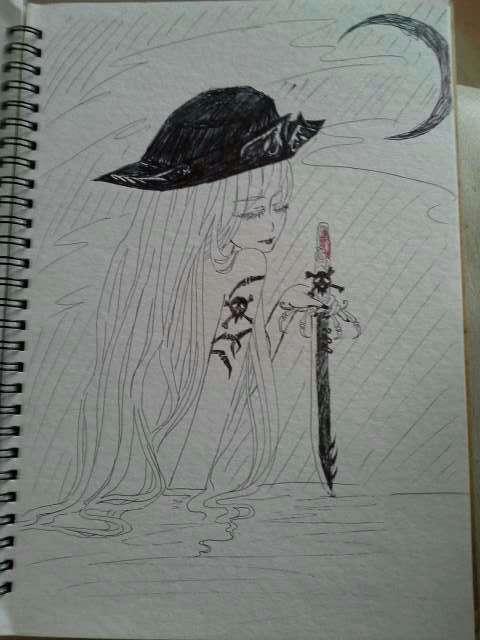 手绘铅笔美人鱼