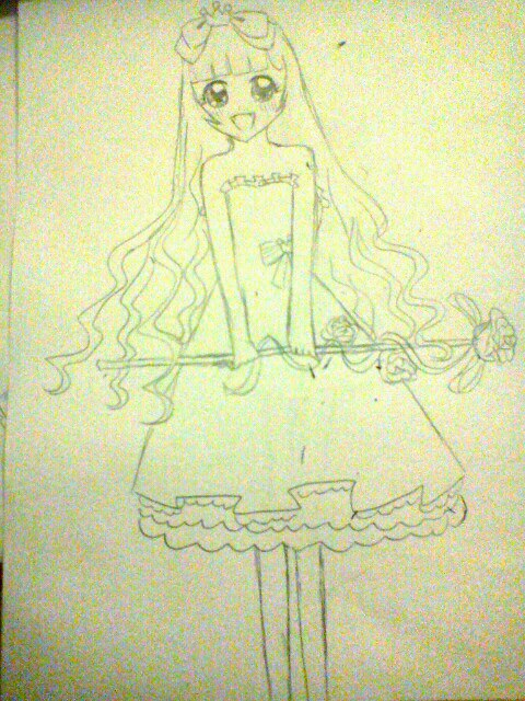 简单画公主裙_公主裙怎么画_画出来的公主裙图片_画 ...