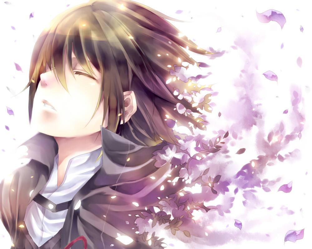 动漫少女图片古风樱花