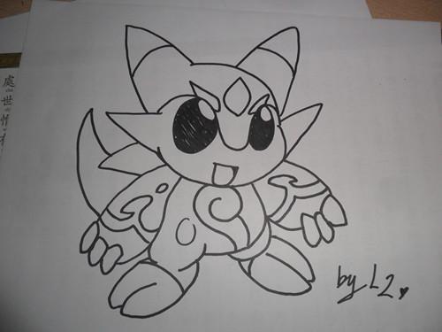 可爱小猪手绘黑白
