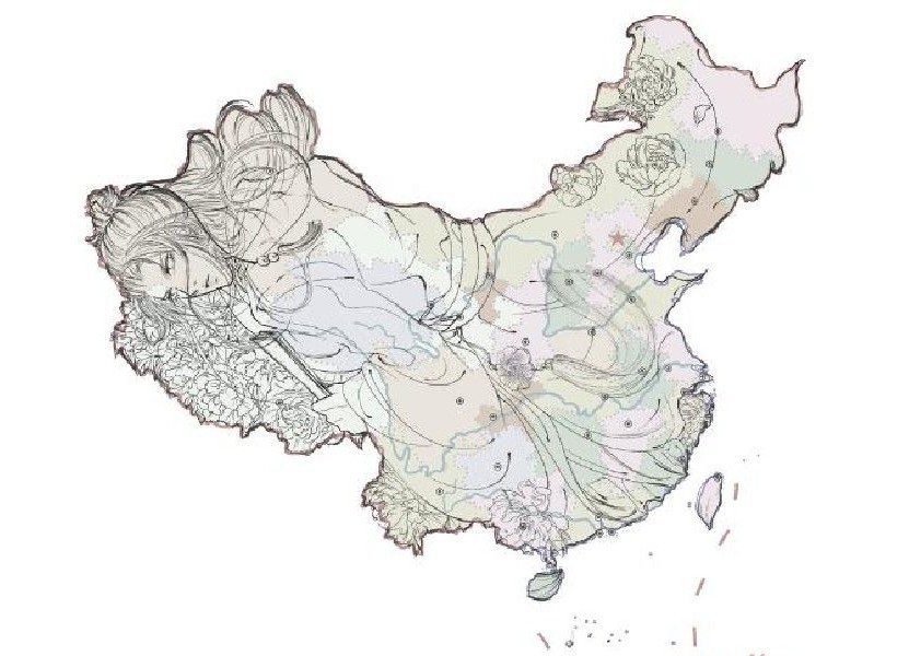 中国地图拟人化_中国地图全图高清版_中国地图拟人化