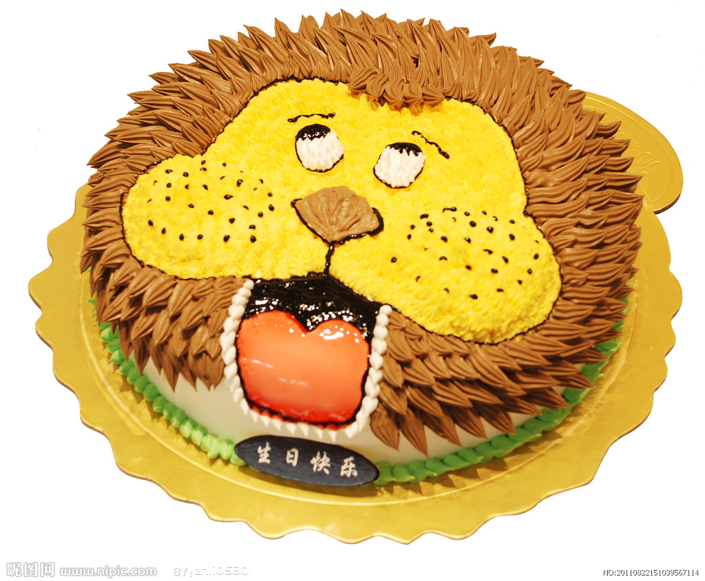 卡通狮子头像蛋糕