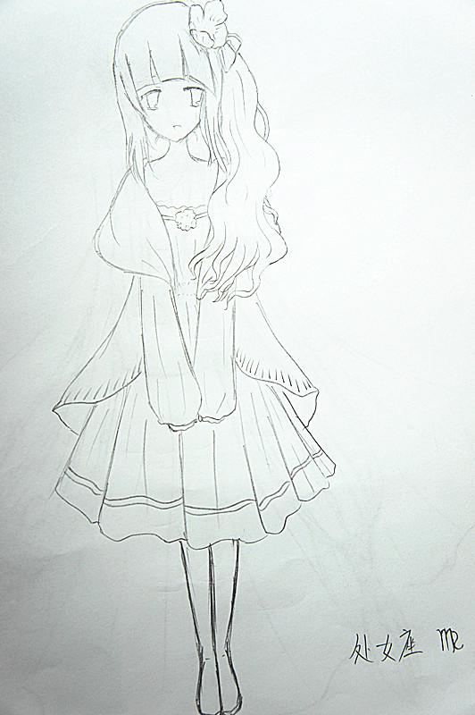 【手绘】十二星座拟人图_百田动漫圈