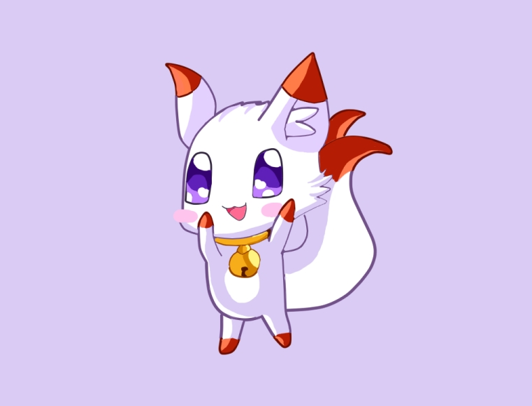 猫咪飞翔手绘插画