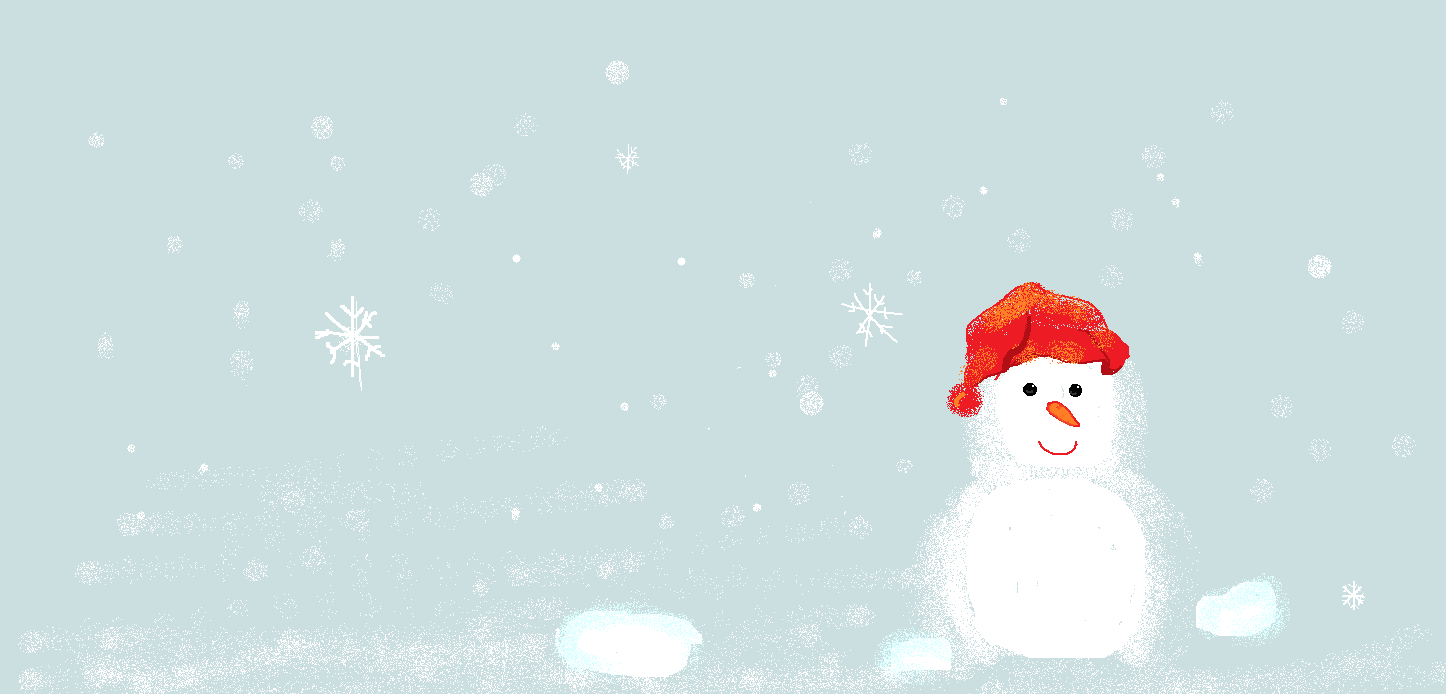 冬日手绘壁纸_奥拉星圈