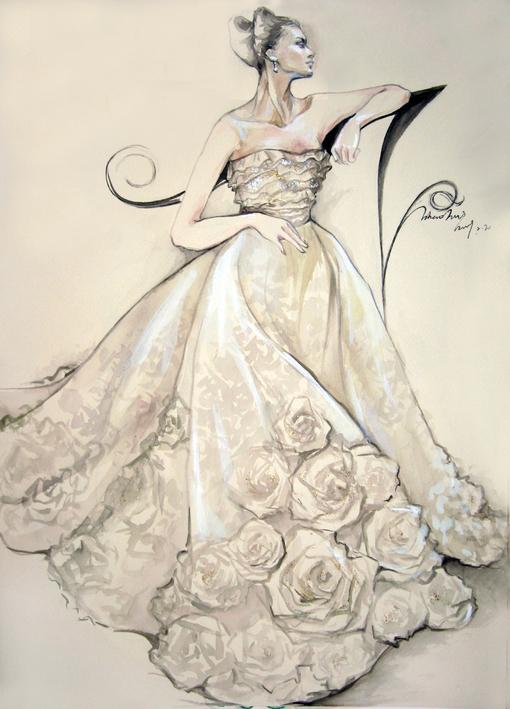 (转)这样的手绘婚纱 你爱么?_百田星座圈