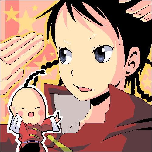 可爱人物饺子简笔画