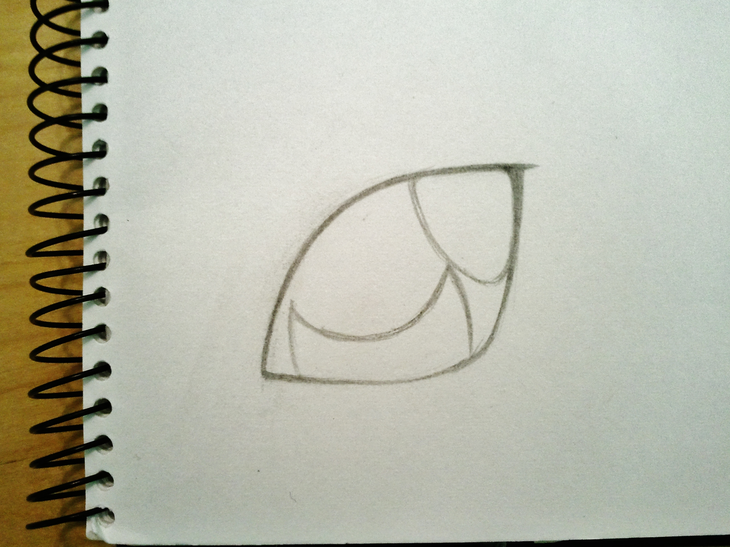 由于动物的眼睛结构比较简单,所以只需要画光点和下层的眼白(?).