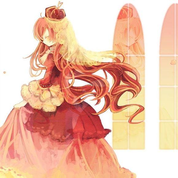 可爱动漫红色萌女生