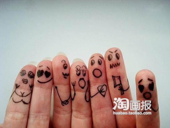 十个笔画简表情手指包蔡小葵可爱图片