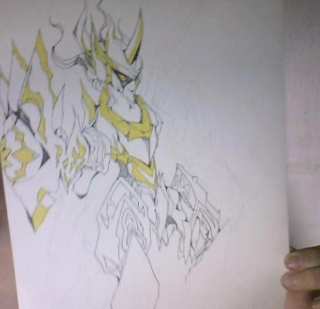 (夕白)手绘画超神罗,半成品
