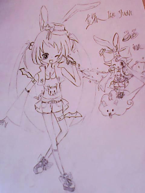 田卡通小兔子拟人化