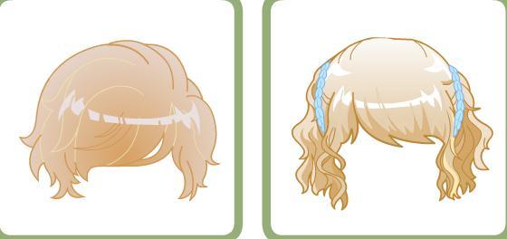 高清服装设计头发各种画法