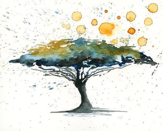 小时候喜欢拿着蜡笔描绘属于自己的小世界,那里天空是整片的蓝色,云像棉花,一朵朵的白色,彩虹是半弧的七彩色,花儿是一瓣瓣的五彩缤纷,嫩草是一片片的绿色,太阳是圆圆的大红色小时候的画简单而美好,满满都是童年的专属颜色。长大后依旧热衷于拿起画笔或是笔刷乱涂乱画,喜欢画纸上水渍的流动和晕染,喜欢用一层一层的颜色覆盖出色彩奇妙的感觉,喜欢描绘想象中的一切。来自意大利的画家Ireart,喜欢大自然馈赠的一切,喜欢水彩画,自然里的所有美好事物都赋予了她足够多的创作灵感,可爱的小动物,阳光,天空的色彩,树木花草,甚至于