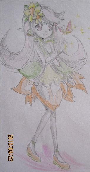 手绘--拟人--雏菊仙子