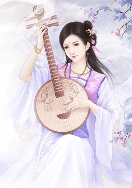 古代白衣男子丹青图片 古代手绘男子丹青图,古代女子丹青