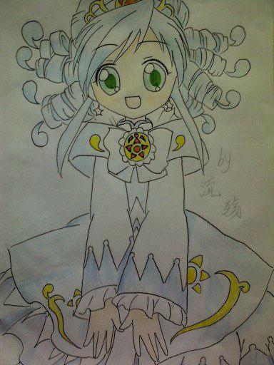 可爱贝儿公主简笔画