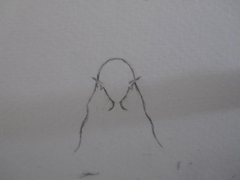 欧美风精灵手绘线稿教程之头部