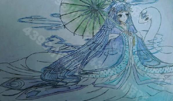 十二星座公主禮服簡筆畫