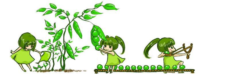 【洛影】植物大战僵尸拟人,萌娘化