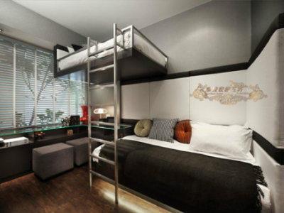 越来越多的悬空床,他们有一个共同点,都充分利用了层高!