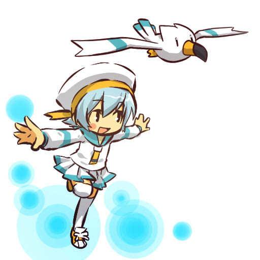 超萌海鸥的简笔画步骤