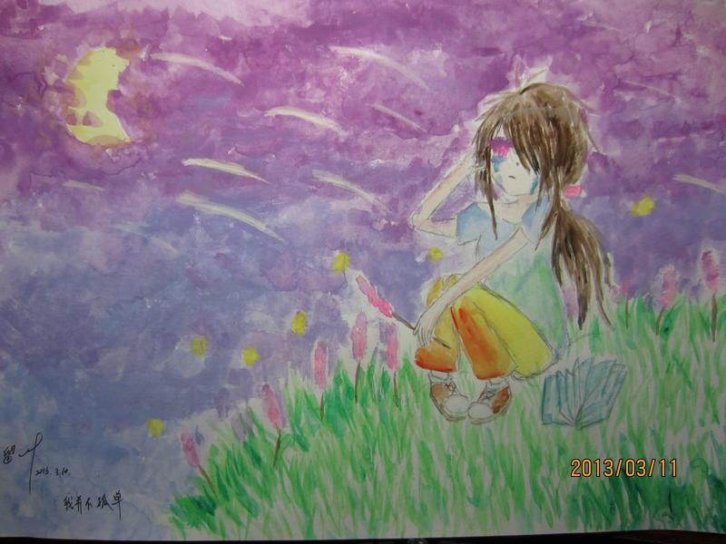 手绘画西瓜手绘教程