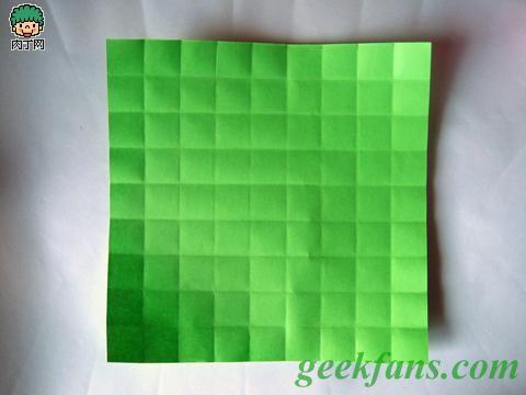 立体折纸青苹果图解