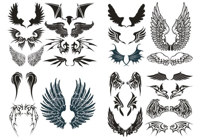 魔鬼翅膀矢量图