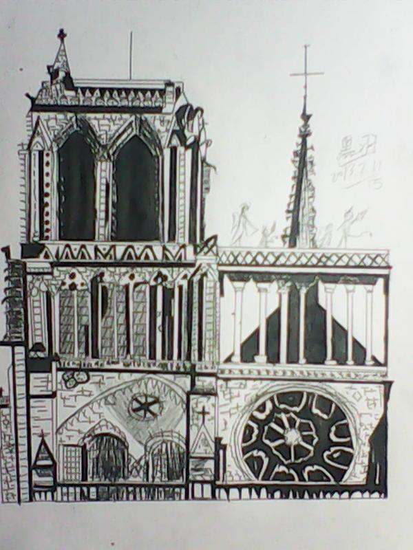 城堡画画图片大全铅笔