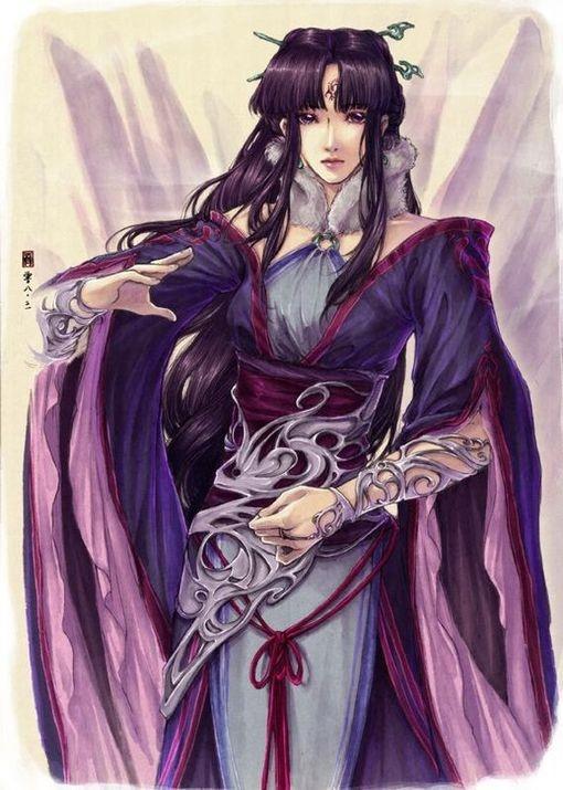 古风手绘宫廷妃子