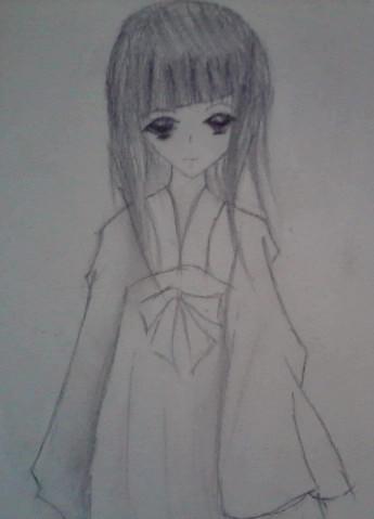 【荒年】手绘图.一个可爱的女孩