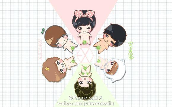 【夜,】exo|12只q版萌图