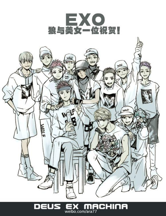 【晓梓】EXO|那些年美腻的12只!_EXO圈哪个性感身材国家女人最图片