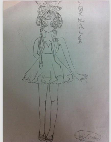 幼儿公主裙子简笔画步骤