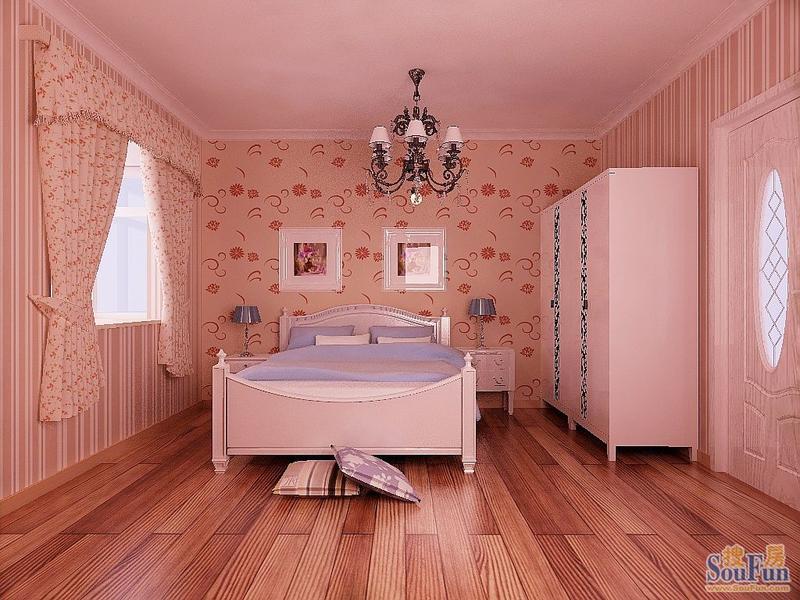 粉色欧式女生装修房间图片