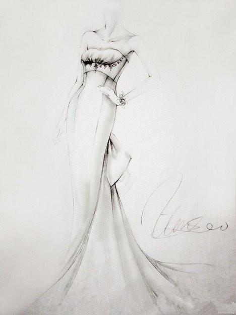 素描婚纱图片大全简单图片