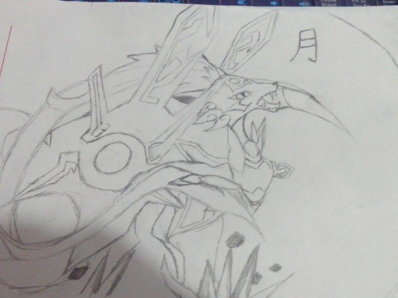 噬月武神手绘