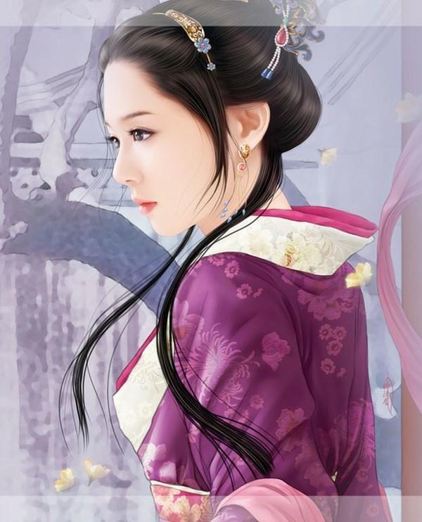 古代美女丹青手绘