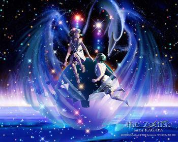 双鱼座星座手绘动漫人物