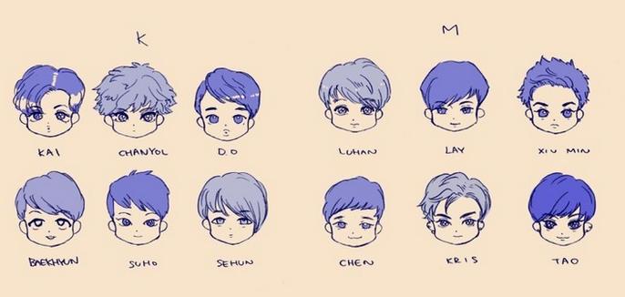 【梦梦】各种exo的卡通图