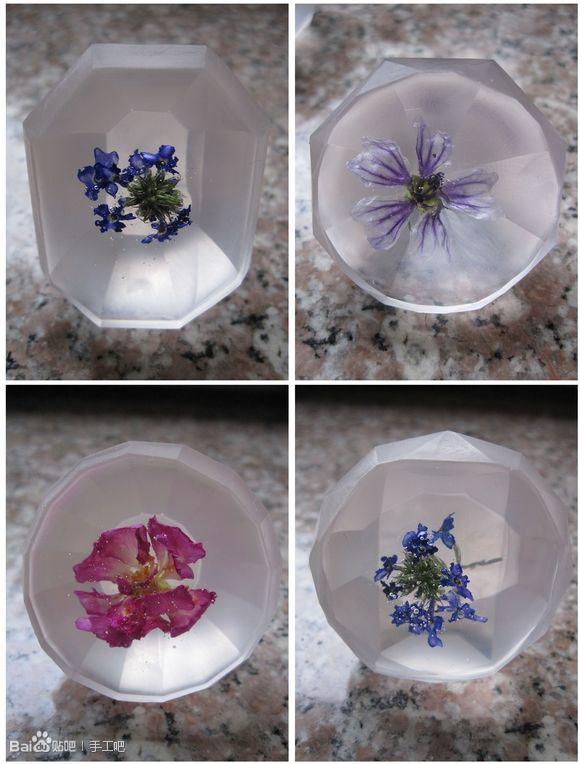 『腐获天下,』水晶滴胶的花朵标本.